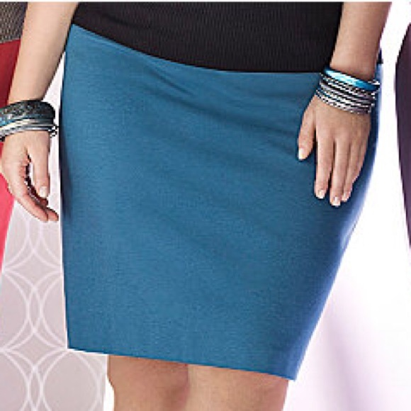 dce15564a95 Lane Bryant Dresses   Skirts - Lane Bryant Teal Ponte Pencil Skirt
